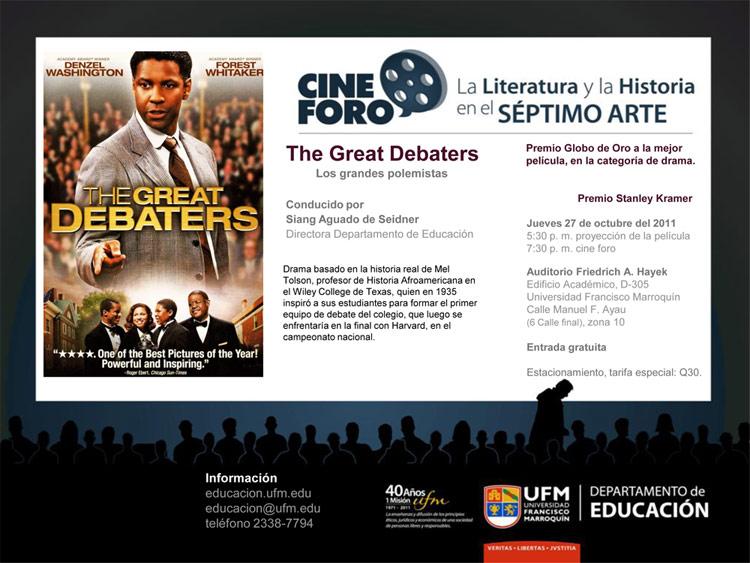 111024 UFM EDUCACION CineForo Los grandes polemistas.jpg