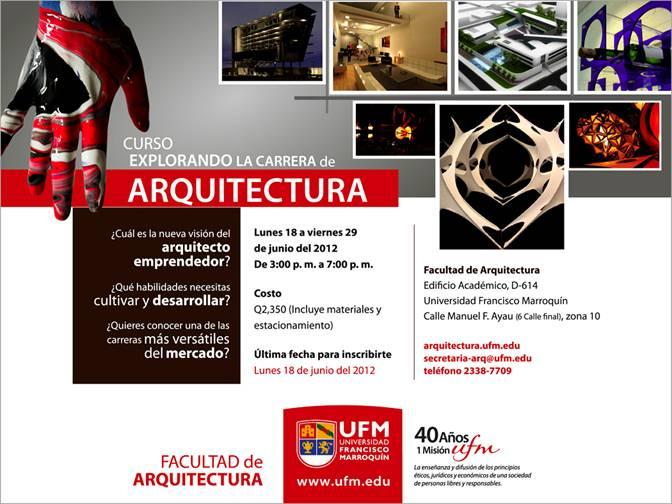 Curso explorando la carrera de arquitectura 2012 el for Arquitectura anos de carrera