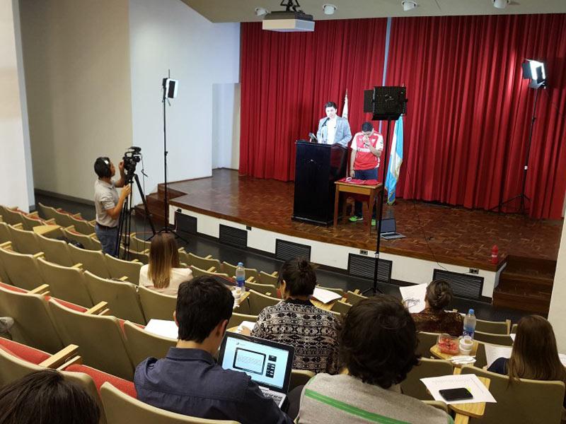 Presentación final de Media Training en el Auditorium Hayek.