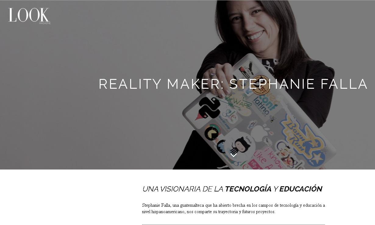 El perfil de Stephanie Falla se halla en http://goo.gl/M8noVK