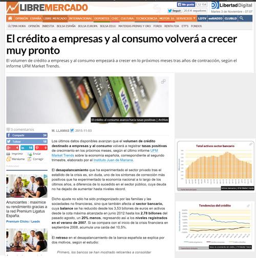 La noticia sobre el informe de UFM Market Trends se halla en http://goo.gl/l8vQmr