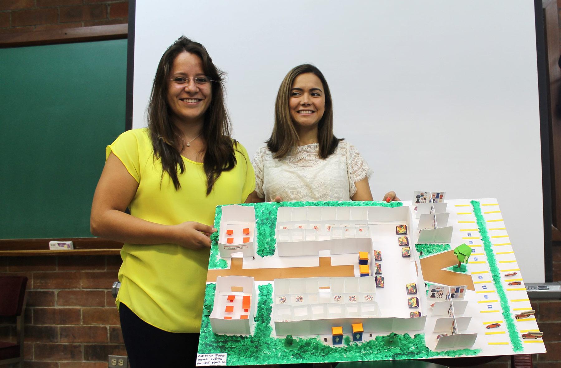 Estudiantes de la carrera de Nutrición clínica elaboraron una maqueta con una propuesta para reubicar las áreas de alimentos en el mercado La Pólvora.