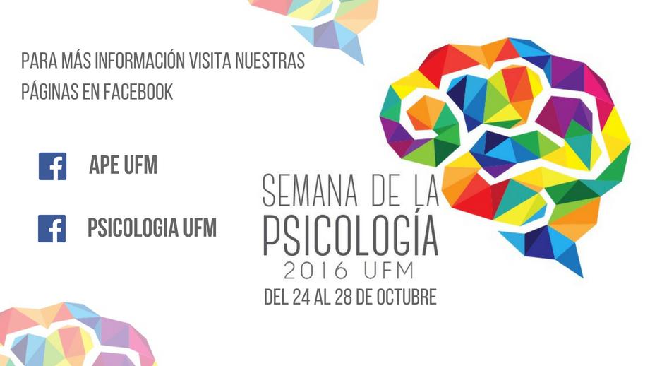 ¡Ven a la semana de la Psicología!