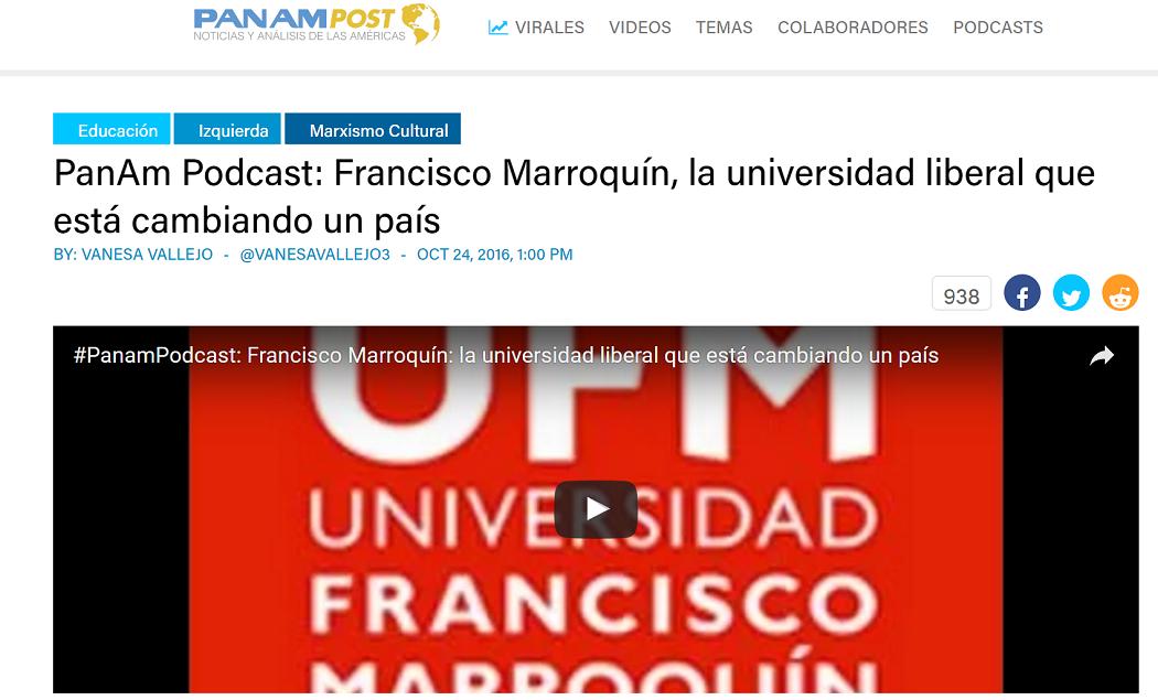 Ufm la universidad liberal que est cambiando un pa s el amigo de la marro - Fundar un partido politico ...