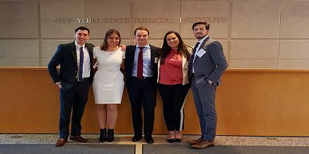 Estudiantes de Derecho destacaron en competencias internacionales