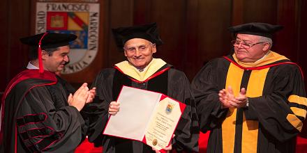 Manuel Guillermo Herrera, doctor honoris causa por la UFM