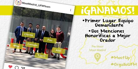 Derecho UFM destaca en pre-moot del Moot Madrid
