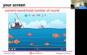 Berger explicando experimento fishery commons
